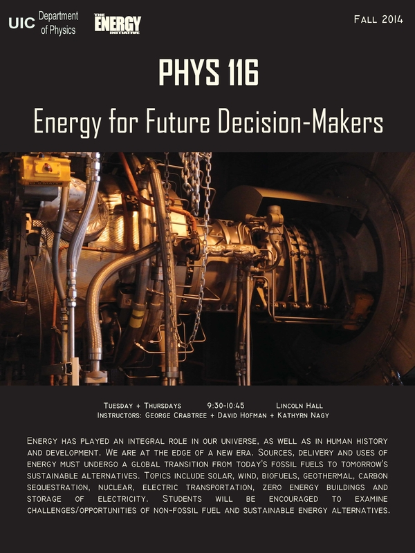 Physics 116 Energy for Future Decision-Makers