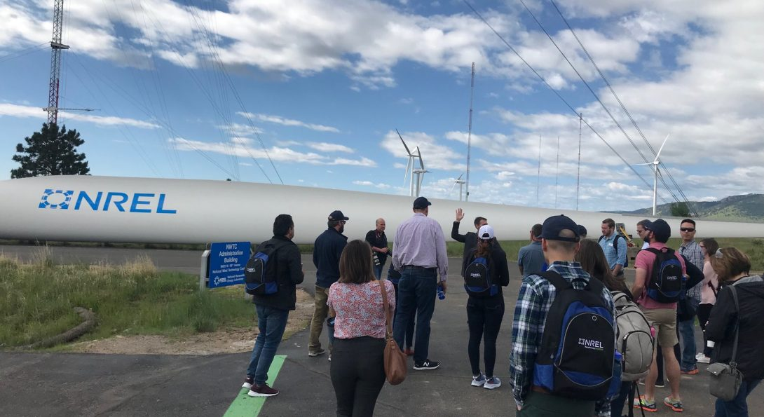 NREL #EnergyExecs visit wind power resarch at the Flatirons Campus near Boulder