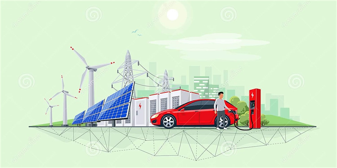 Electric vehicle, renewables and electricity grid